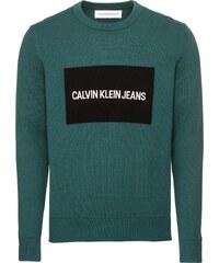 56704dc832 Calvin Klein Jeans Sveter  Institutional Box  Zelená