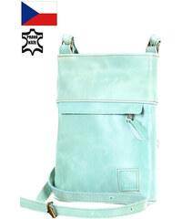 Glara Dámska crossbody kabelka z pravej kože - vyrobené v Českej republike c27ab3f6961