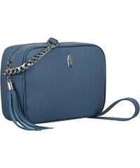 a4fe2bb40a0bd Wojewodzic malé modrosivé kožené kabelky crossbody s retiazkou na párty 3176