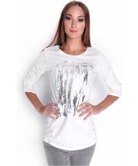 OXYD Biele dámske tričko s potlačou OX6627 db684a389b0