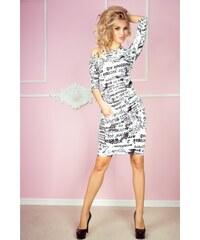 Numoco Biele priliehavé dámske šaty NOVINY b8f0c86d7e2