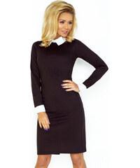 Numoco Čierne šaty s bielym golierom 143 1 1b1c8d8e493