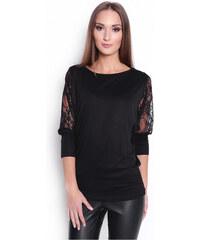 05f948ced OXYD Čierne dámske tričko s tylovými rukávmi OX6047