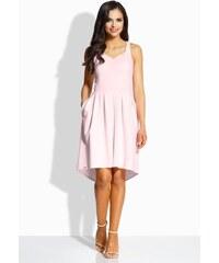 473920bf5c5b Lemoniade Dámske áčkové šaty s vreckami v jemne ružovej farbe L210