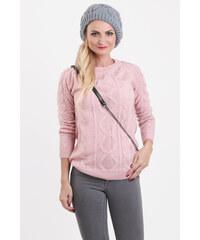PS Dámsky pulóver JASMIN v ružovej farbe d21a3a838d