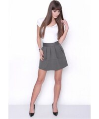47bb0f03d889 OXYD Grafitová dámska mini sukňa OX 10003