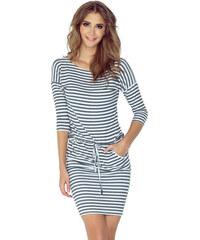 Numoco Krátke letné šaty so šedými pásikmi 13 54 00dfbd95f14