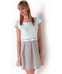 OXYD Mätovo-šedé krátke letné šaty OX2428 5e82636d73d