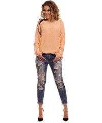 Lemoniade Marhuľkový dámsky sveter s mašľou 4d36f009e9