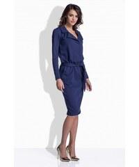 Numoco Puzdrové šaty v tmavomodrej farbe 37 2. Veľkosť len M. Detail  produktu · Lemoniade Modré dámske šaty s opaskom 161 712974f9cf5