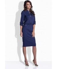07d1793d97 Lemoniade Modré dámske šaty so zipsom 160
