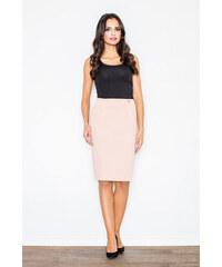 0315d4190f01 FIGL Ružová dámska puzdrová sukňa M260