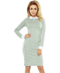 3be9cf1057bf Numoco Sivé šaty s bielym golierom a manžetami 143-3