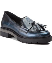 Poltopánky TOMMY HILFIGER - Metallic Leather Loa FW0FW03142 Midnight 403 99c21ae66f2