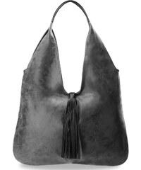 World-Style.cz Dámská kožená kabelka vak shopper bag na rameno šedý b2ef9bb8353