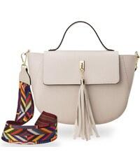 Dámská kabelka kufřím typu loďka abakus + pásek aztécký vzor růžová 8ef3702160b