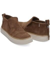 62ac4098f5f Toms hnědé kožené boty Paxton Dark Amber Suede Water Resistant - 38