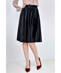 a2b2acc30216 Rouzit Čierna plisovaná stredne dlhá sukňa - Glami.sk