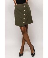 edee632c6183 Rouzit Dámska krátka kaki sukňa s gombíkmi