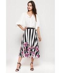 3065121d79cd Rouzit Dlhá ružová sukňa s kvetovaným vzorom - Glami.sk
