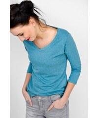 8d083946ff94 Rouzit Dámske modré tričko s trojštvrťovým rukávom