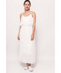 Strikingstyle Spoločenské šaty s čipkou a mašľou   biele - Glami.sk aebe8885541