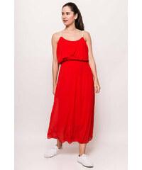 cd8bf0b11eaa Rouzit Dlhé červené šaty na ramienka