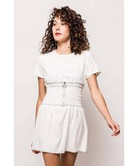 Rouzit Krátke biele letné šaty d46487348c7