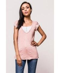2cae974c2398 The SHE Purpurové ružové dámske dlhé tričko šaty - Glami.sk