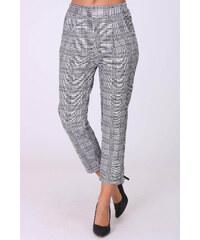 Rouzit Sivé dámske nohavice s tartanovým vzorom acc7ead7b6c