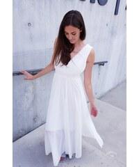 Mishel Dlouhé šaty SUGAR- černá   bílá   béžová 9756762a770