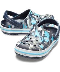 Crocs barevné maskáčové pantofle Crocband Camo Spec Clog Blue Camo - C7 172be98ef2