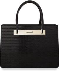Elegantní kufřík monnari dámská kabelka lakované panely - černý 48eb53ad33