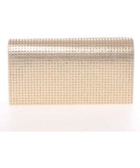 Elegantní dámské psaníčko zlaté - Delami L013 zlatá 4f7cbe97d45