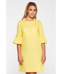 Sárga StarShinerS casual bő szabású ruha rövid nem elasztikus pamut 560b9ade31