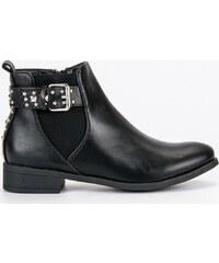 SEASTAR Módne čierne členkové topánky s kamienkami - Glami.sk 0da04ebada9