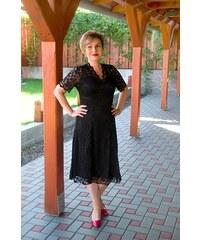 Bellazu Krajkové šaty Mitcham s výstřihem černé 3c2debf6e7