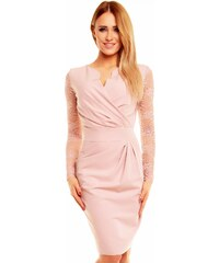 5d369f568b2 KARTES MODA šaty dámské KM56K s obálkovým výstřihem