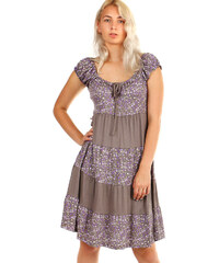 Glara Dámske letné plážové šaty s kvetinovým vzorom 3c25d0a14b6