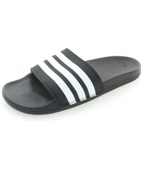 15e824d95b adidas PERFORMANCE Pánske čierne šľapky Adilette Cloudfoam Plus Stripes  Slides