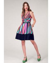 58e620fc3219 Barevné šaty s pruhy Closet Dezire