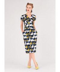 Barevné šaty s úzkou sukní Closet Deja c933611efc