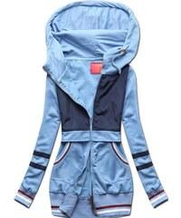 75c3f5de11fe Butikovo Baby blue-modrá mikina s kapucňou