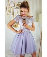 7fe85861112 Bicotone Dámské společenské šaty s krátkým rukávkem a volánovou sukní