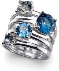 Prsten s krystaly Swarovski Oliver Weber Duo Blue 41122-BLU 62 mm d830efee8f2