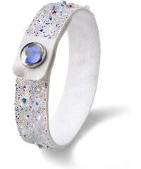 Náramek s krystaly Swarovski Oliver Weber Disco Alcantara White 841c1f16b8b