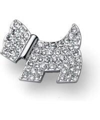 Ozdobná brož s krystaly Swarovski Oliver Weber Doggy crystal 73520576518