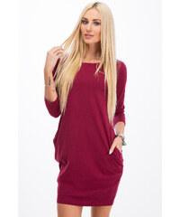 02993862f23a Modnia Mini šaty s dlouhými rukávy - claret 9988 CLARET