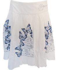 05f096080c07 Desigual bílá sukně s motýly