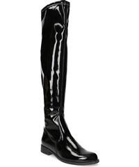 Baťa Čierne lesklé čižmy nad kolená 344ac4b13f7